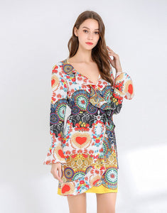 Heart Mosaic Wrap dress