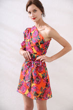 Load image into Gallery viewer, Exotic Floral off- the shoulder mini dress *WAS £85*