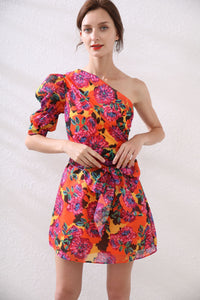 Exotic Floral off- the shoulder mini dress *WAS £85*
