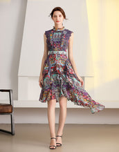 Load image into Gallery viewer, Floral daydream ruffle dress