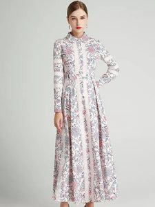 The Fleur long sleeve maxi dress