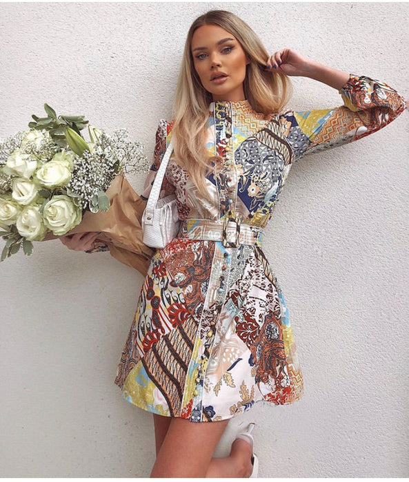 Pick and Mix print Mini Dress