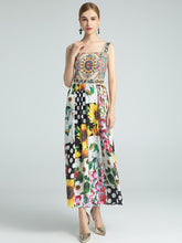 Load image into Gallery viewer, The fun fair floral midi dress