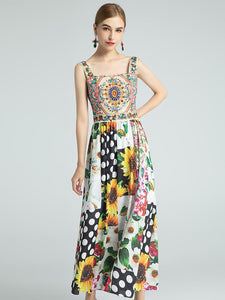 The fun fair floral midi dress