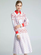 Load image into Gallery viewer, Red Heart polka print two piece set