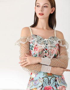 Away with the fairies off shoulder two piece