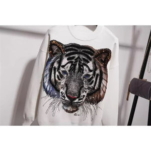 New!  Tigers eyes white knitted set