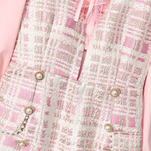 Load image into Gallery viewer, Pink check with Bow playsuit