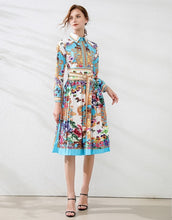 Load image into Gallery viewer, 'The Sanctuary' long sleeve dress with belt