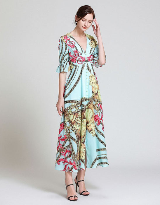 """Hear Me Roar!"" Bohemian Maxi Dress"