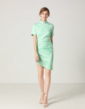 Load image into Gallery viewer, Mint Gathered Mini Dress