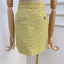 Load image into Gallery viewer, Lemon Yellow Tweed 3 Piece Set