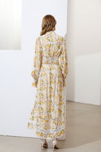 Load image into Gallery viewer, 'Fruit Salad' Floral striped maxi dress