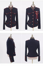 Load image into Gallery viewer, Navy Military Jacket