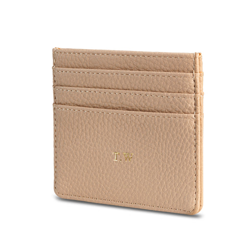 NEW! Taupe Vegan Leather Card HolderTHREESIXFIVE