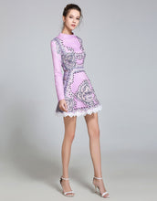 Load image into Gallery viewer, Lilac embellished Vintage Skater dress
