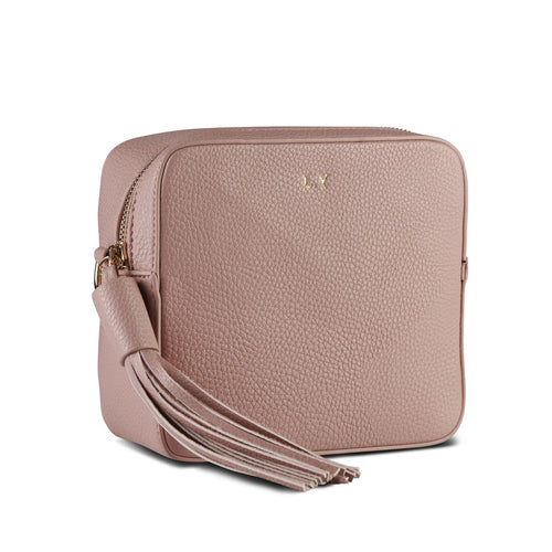 Blush Pink Vegan Leather Cross Body Bag  THREESIXFIVE