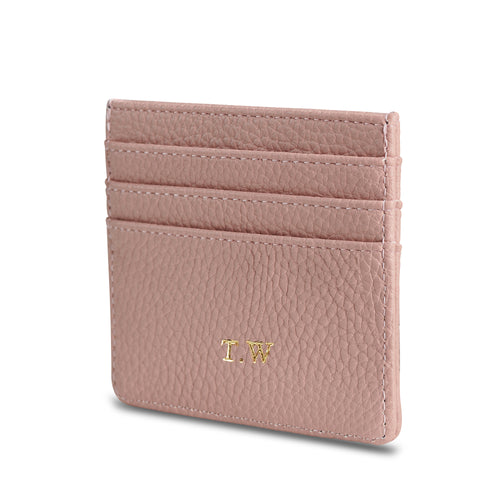 NEW! Blush Pink Vegan Leather Card Holder THREESIXFIVE