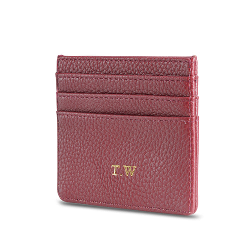 NEW! Maroon Vegan Leather Card Holder THREESIXFIVE