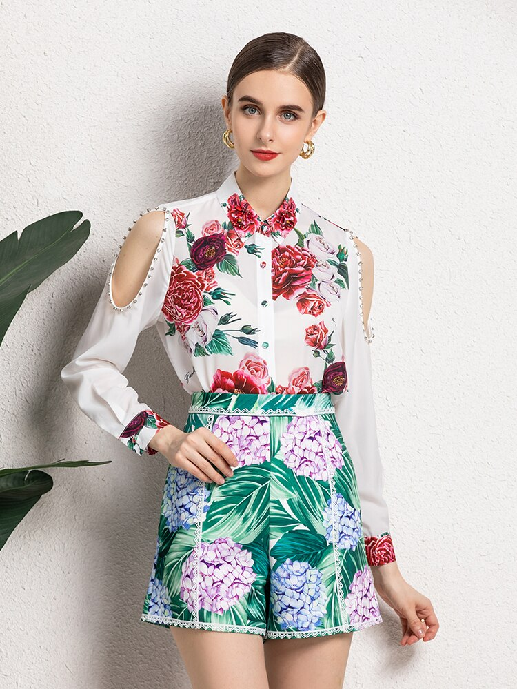 Rose and Hydrangea fantasy two piece