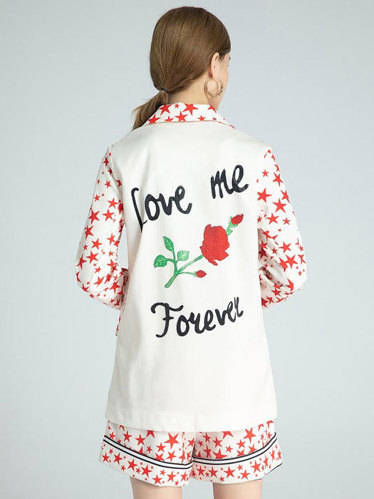 Love me forever with stars pyjama style set