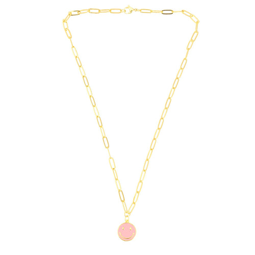 NEW! Happiness Necklace in Pink - TALIS CHAINS