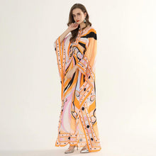 Load image into Gallery viewer, Tangerine Swirl Maxi dress