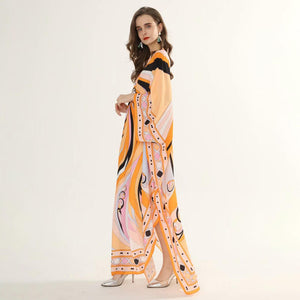 Tangerine Swirl Maxi dress