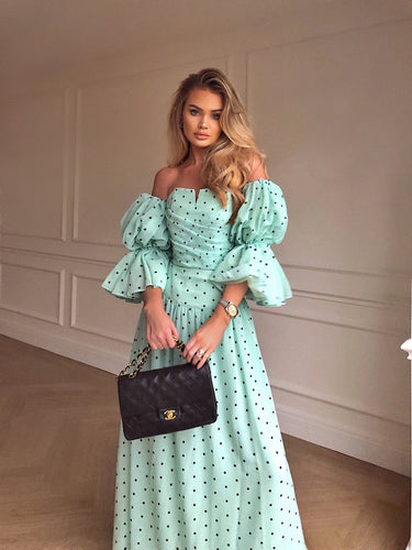 Pistachio Polka Dot Two piece *WAS £180*