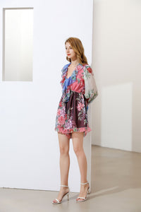 The Floral Clash mix and match romper suit