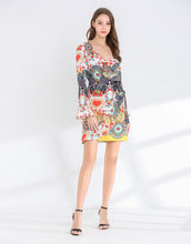 Load image into Gallery viewer, Heart Mosaic Wrap dress