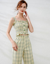 Load image into Gallery viewer, Lemon and Lime Gingham two piece set