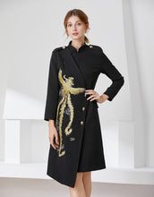 Load image into Gallery viewer, Gold Phoenix Blazer Dress comes in long or short sleeve