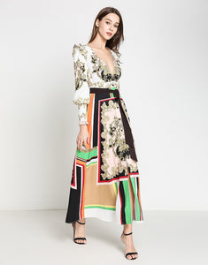 Regal Motif colour pop maxi dress *WAS £200*