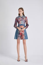 Load image into Gallery viewer, Eyes on you watercolour mini dress