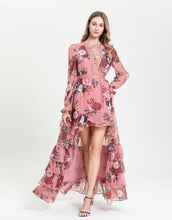 Load image into Gallery viewer, Delightful Rose Dip Hem Maxi Dress
