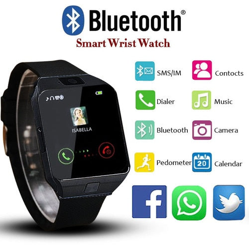 5b3393479 ... New LED Electronic Intelligent Sport Gold Smart Watch DZ09 Pedometer  Phone Android Gift ...