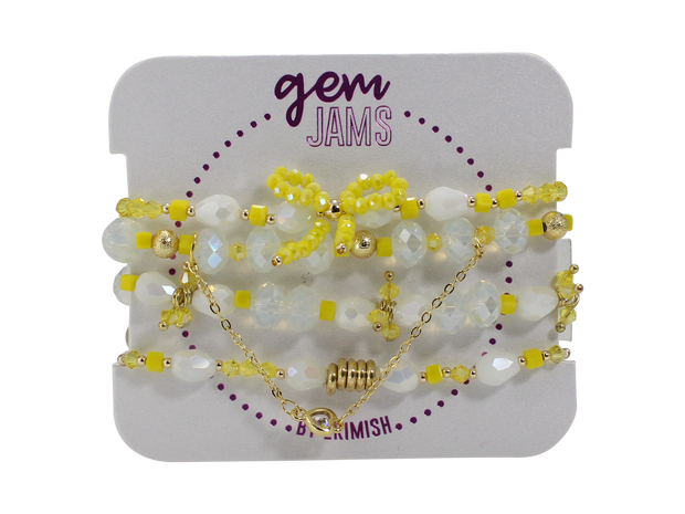 Gem Jams Bow Collection Yellow
