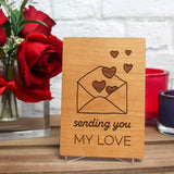 Best Friend Valentine Card, Friend Valentine, Best Friend Gift, Wood Cards,