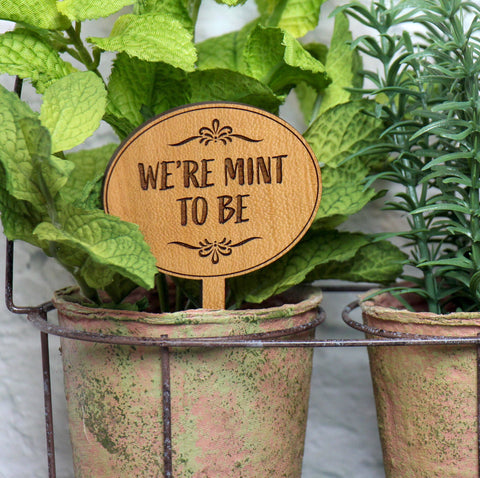 Wooden Herb Stake, Mint Sign Wooden, Herb Garden Signs, Herb Garden Markers, Herb Garden Gift, Indoor Plant Stakes, Christmas Gift for Chefs