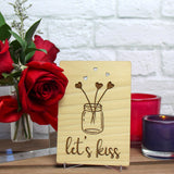 Valentines Day Card for Boyfriend, Valentines Gift for Boyfriend, Wood Cards,