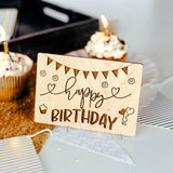 Best Friend Birthday Card, Wood Card, Happy Birthday,