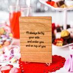 Naughty Valentines Card, Valentines Card for Wife, Wood Cards,