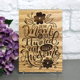 Mothers Day Gift from Daughter, Wood Greeting Card, Mothers Day Card,