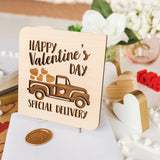 Valentines Day Gift for Girlfriend, Valentine Card, Wood Cards,