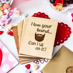 Naughty Valentines Card, Valentine Card for Husband, Valentines Day Gift for Husband, Wood Card,
