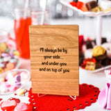 Naughty Valentines Card, Valentine Card for Husband, Wooden Cards,