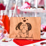 Valentine Card for Husband, Valentines Day Gift for Husband, Wood Cards, Cute Valentine Card,