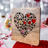 Valentines Day Card for Him, Valentines Card, Wood Cards, Hearts, Valentines Gift,