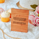 Expecting Mom Gift, Personalized Mother's Day Card, Wood Greeting Card,